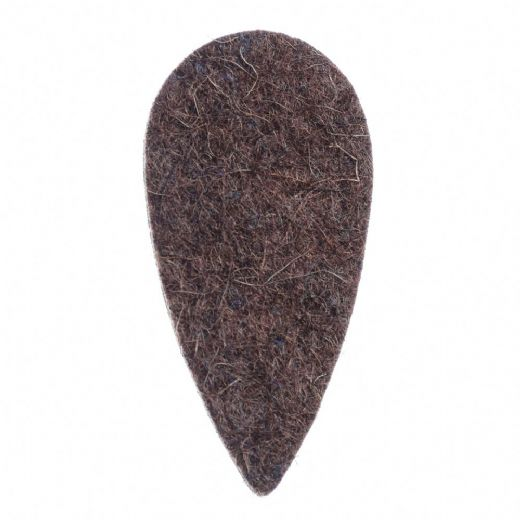 Felt Tones Teardrop Brown Wool Felt 1 Pick